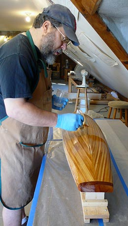 In the shop at WoodenBoat School