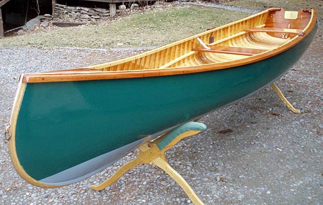 build wood and canvas canoe