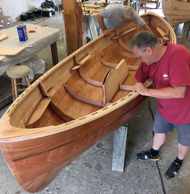 Amature wooden power boat builder
