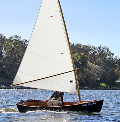 Jimmy Skiff sailing